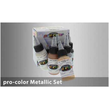 Hansa Pro-Color kit 5 colori metallici + 1 cleaner  - 1