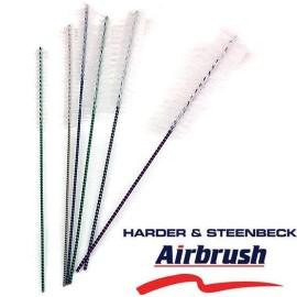 Kit 6 spazzolini / scovolini pulizia aerografo - Harder & Steenbeck  - 1
